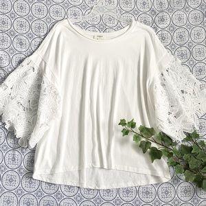 Umgee super oversized chic blouse, white